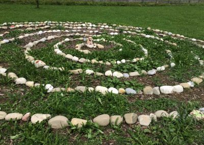 Meditationsspirale im Garten