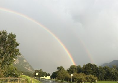 Regenbogen zum Abschied